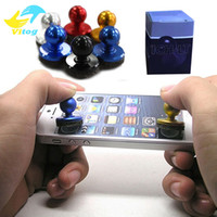 Wholesale Arcade For Ipad - Mini Funny Arcade Game Stick Joystick Joypad for iPhone iPad for Android Touch Tablets Screen Mobile Phone Game Rocker