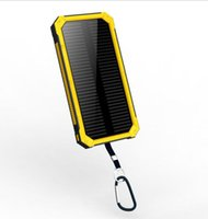 Wholesale Solar Energy Power Bank - Solar energy power bank Dual USB solar charger 20000mah Quick battery charger Ultra-thin large capacity universal mobile power supply