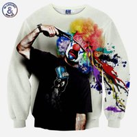Wholesale Pink Zombie - Hip Hop New sweatshirt men's fashion 3D sweatshirt novelty gun clown hoodies printing Zombies sudaderas Plus 4XL