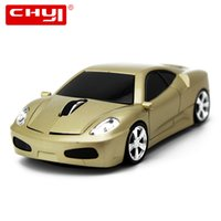 Wholesale- CHYI Wireless Mouse 2.4GHZ Optical Sports Car Cool Mice 1600DPI Gamer Gaming Mause Hot Sale Mouse pour PC Ordinateur portable