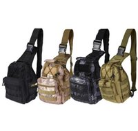 Wholesale Shoulder Straps Military - Chest Bag With Molle Military Pouch Tactical Shoulder Strap Bag Outdoor Army For Men Camping Hiking Black Bags