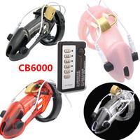 Wholesale Male Chastity Device Cock Ring - Electric Shock Medical Therapy Chastity Cage Devices CB6000 CB6000s Cock Cage Penis Lock Ring Toys for Man G153