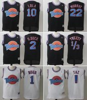 Wholesale Michael Movies - Movie Space Jam Tune Squad Jersey Men's 23 Michael 1 Bugs 10 Lola 1 3 Tweety 22 Murray Shirt Embroidery basketball Jersey S-XXL