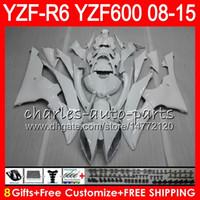 Wholesale Glossy White Yamaha - Body For YAMAHA YZF600 YZFR6 08 09 10 11 12 15 YZF-R600 60HM5 R 6 glossy white YZF 600 YZF-R6 YZF R6 2008 2009 2010 2011 2012 2015 Fairing
