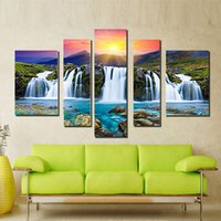 Wholesale Canvas Wall Art Framed ink Printing Panel Mounted Canvas Prints Landscape Canvas Printings