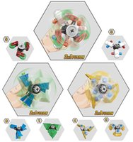 Wholesale Kazi Educational Kids Building Blocks - New Kazi 2 IN 1 Fusion Plastic Finger Spinner Hand Rotating Spinner Fidget Building Blocks Model Toys for Children Kids Educational Toys