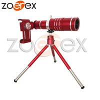 Wholesale 18x Mobile Phone Lens Universal X Zoom Red Telescope Camera Telephoto Lens for Phone Zoom Telescope Magnifier Optical Lens