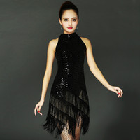 Wholesale Bodycon Small - Fashion Paillette Outfit Sexy Dress Tassel Fashion Collar Sleeveless Cultivate One's Morality In The Skirt of Small Formal Attire Skirt