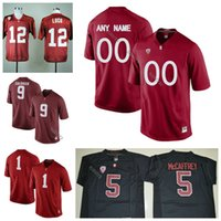 Wholesale Andrew Luck Football - Stanford Cardinal Jersey Custom Name Number Andrew Luck Keller Chryst Bryce Love K.J. Costello Red White Black College Football Jerseys NCAA