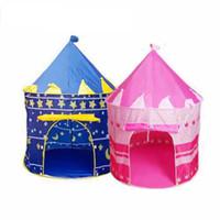 ev prensesi kale toptan satış-FlyingTown Ultralarge Çocuk Plaj Çadır Bebek Oyuncak Oyun Oyun Evi Çocuk Prenses Prens Kalesi Açık Oyuncaklar Çadır bebek Hediyeleri