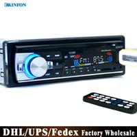 carro dvd usb venda por atacado-Carro dvd DHL / Fedex 20 pçs / lote 12 V Car Rádio FM Estéreo MP3 Player de Áudio Carregador USB / SD / AUX Car Eletrônica Subwoofer No Tablier 1 DIN