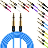 Wholesale Multimedia Speaker For Pc - 3.5mm Colorful Audio Auxiliary Cable Wave AUX Extension Male to Male Stereo plastic Jack cable For Samsung phone PC MP3 Headphone Speaker