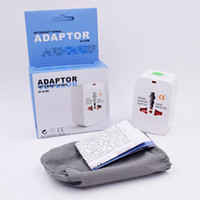 Wholesale travel adapters online - All in One Universal International Plug Adaptor World Travel AC Power Charger Adapter with AU US UK EU converter Plug Top Quality