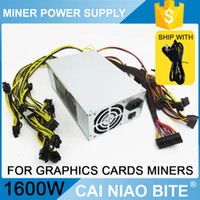 Wholesale Power Miners - Hot psu 1600w power supply for ethereum 1600W ETH miner mining graphics card RX480 RX470 RX570 RX580 200-260V CE FC ROHS Via DHL