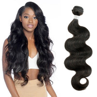 Wholesale Remy Human Hair Extensions Brown - Peruvian Virgin Hair 3 Bundles Body Wave Human Hair Weaves Natural Brown Unprocessed Brazilian Cambodian Malaysian Indian Hair Extensions