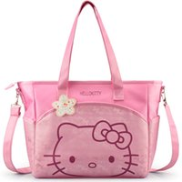 Wholesale Kawaii Baby Diapers - Wholesale-Hot Kawaii Cartoon baby diaper bag maternity bag Multifunctional large capacity tote bag Nappy bags Mummy handbag Bag007