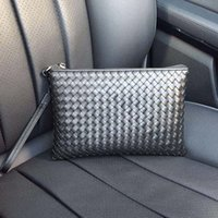 Wholesale Leather Man Clutch Bags - Clutch bags men Genuine leather handmade man bags luxury High quality brand Business classic men handbags size 25*16 Model 87429510