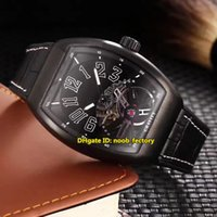 Wholesale High Gr - Hot Luxury Brand High Quality New Saratoge Gravity Tourbillon Automatic Men's Watch V 45 T GR CS BR NR White Black PVD Leather Strap Watches