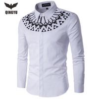 мужская рубашка размера xs оптовых-Wholesale- Camisa Masculina Slim Fashion Men Shirt 2016 New  Casual Long-Sleeved Chemise Homme Camisa Masculina large size 5XL