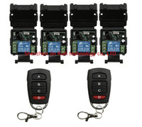 Wholesale Garage Door 1ch - Wholesale- DC 12V 1CH Learning Code Wireless Remote Control Switch System teleswitch 1*Receiver and 3*Transmitter Applicance Garage Door