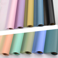 Wholesale Hazy Flower - Hazy Monochromatic Matte Paper Fog Light Paper Waterproof Plastic Cellophane Papers Flower Bouquet Wrapping Paper Material 1PC