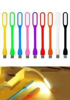 Wholesale Lamp Tablet - Portable USB LED Lamp Light Flexible Bendable Mini USB Light for Notebook Laptop Tablet Power Bank USB Gadets with or witout package 1200pc