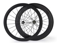 Wholesale 700C front mm rear mm T800 carbon fiber bike wheels with Novatec or Powerway hub type clincher tubular