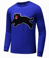 Wholesale Leopard Print Sweater Top - Top Design Black Leopard Print Men Casual Sweater Pullover Long Sleeve Winter Mens Knitted Sweaters Leisure Knitwear Gray Blue 3XL