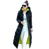 Wholesale Female Winter Parka - 2016 Down Coat Parkas Women's Winter Jackets Winter Long Jacket Women High Quality Warm Female Thickening Warm Parka Hood JX033