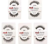 Wholesale Red Cherry Eyelash - 10 styles RED CHERRY False Eyelashes Fake Eye Lashes long and vol A105