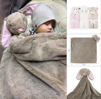Wholesale Elephant Baby Bedding - Baby blanket Swaddles Swaddling Velvet Animal toy warm Fall winter Elephant 2016 Ins Wraps Blankets Comfort Bedding Newborn Quality 76*76cm