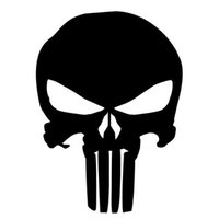 Wholesale Classic Car Windshield - 9.5*14CM PUNISHER Skull Film Classic Car Stickers Motorcycle Decals Car Accessories