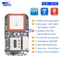 Wholesale Gsm Modules Wholesale - Mini GPS Tracker ZX303 PCB Module GSM GPS Wifi LBS Locator SOS Geo-fence Real-time Call Free Use Platform TF Card Voice Recorder 10pcs lot