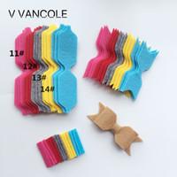 Wholesale Diy Felt Fabric - 2017 NEW baby Diy Non-Woven Felt Fabric Cloth DIY felt bow headwear without Clip for accessories 14set lot