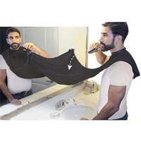 Wholesale Men Hair Beard Trimmer - Man Bathroom Apron Black Beard Care Trimmer Hair Shave Apron for Man Waterproof Floral Cloth Household Cleaning Protections 0703083