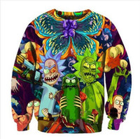 Wholesale Men S Fashion Outfits - Newest Fashion Women Men Rick and Morty Funny 3D Print Crewneck Sweatshirt Fashion Clothing Outfits Jumper casual Tops WYS0015