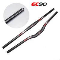 Wholesale Mtb Riser Handlebar Carbon - EC90 mtb bicycle full carbon fiber Riser bike UD handlebar MTB bicycle handlebars 31.8* 640 660MM 1PCS