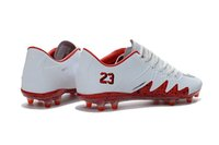 Wholesale Wholesale Indoor Soccer Shoes - 2017 New Neymar JR Soccer Cleats Hypervenom Phinish FG Neymar x JR White Red Low Best Soccer Shoes 2017 CR7 Indoor Shoes