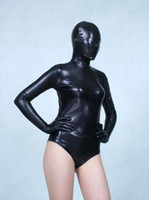 Wholesale Sexy Body Tight Dress - Black legs Elastic tights full body Glue Spandex lycra Metal flashing color Adult suit dress Clothes soft temptation