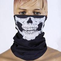 Wholesale bikers masks - DHL Free shipping 500pcs Skull Design Multi Function Bandana Ski Sport Motorcycle Biker Scarf Face Masks Outdoor Facial Mask Black Color