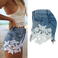 Wholesale Pockets Jeans Shorts For Summer - 2017 Ripped Pocket Women Shorts Summer Casual Denim Pants Vintage Hot Jeans Bottoms Sexy 2017 For Ladies