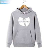 Wholesale Men S Dress Hats - Wholesale- Winter Dress Classic Style Wu Tang Band Printed Hoody Sweatshirts With Hat Sportswear Hip Hop Clothing men's Hoodies Tracksuit