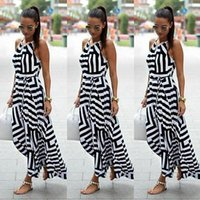 Wholesale Celeb Dress Wholesale - Wholesale- Womens Celeb Sexy Boho Long Maxi Dress Ladies Summer Beach Party Sleeveless Comfort Sun Dress