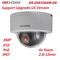 Hikvision DS-2DE3304W-DE 3MP PTZ Zoom PoE 4X Zoom H.265 Mini Dome di rete esterna Sicurezza IP Camera Support Firmware Upgrade