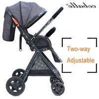 Wholesale Two Fold Umbrella - One Hand Fold Complete 175 Degrees High Landscape Lightweight Baby Stroller Can Sit And Lie Two-way Implementation With 8 Gifts