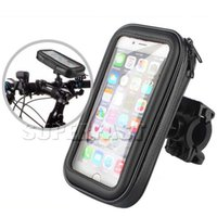 Wholesale Gps Case Bike - Bike Holder Waterproof Case For iPhone 7 Case Bicyle Phone Holder Bike Mount Case Kictstand 360 Degree Rotating with OPP Package GPS Devices