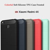 Wholesale Xiaomi Tpu - For Xiaomi Mi 6 Plus 5C 5X Case Soft TPU FOR Xiaomi Redmi Note 4 4X Shockproof Back Cover Phone Cases Carbon Fiber