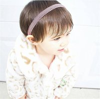 Wholesale Kids Headbands Made - New Baby Hand made Elastic bands For DIY Headbands Hairbands Loops Children Kids Head Bands Children seamless Hair Accessories KHA95
