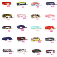 Wholesale Hand Tied Weave - 43 Styles New Fashion Rastaclat Galaxy Bracelet Wristband Hand Woven Adjustable Ties 16CM 100% Polyester Chain One Size Fits Most