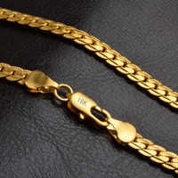 """Wholesale 5mm Figaro Chain Necklace - 5mm 18k gold plated figaro chain necklace for men women chains Necklaces 20"""" Mix Size DHL FREE SHIPPING"""